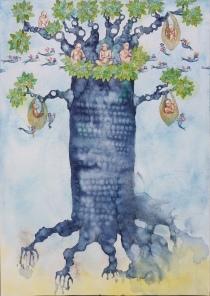 treeofobilonwatercolour